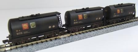 Offer 5. 3x Weathered Shell/BP tank wagons J.K,L